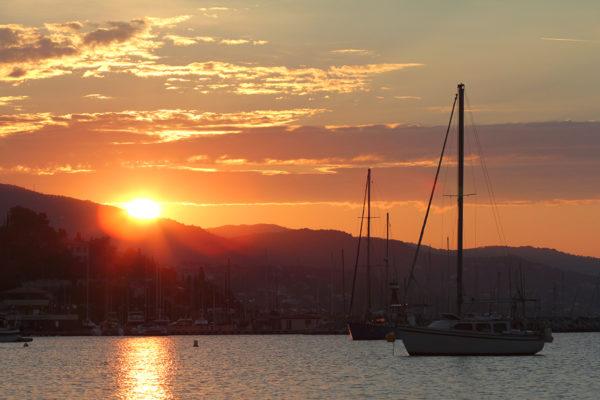 Beach Town Sunset