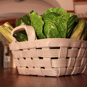 Ceramic Vegetable Basket